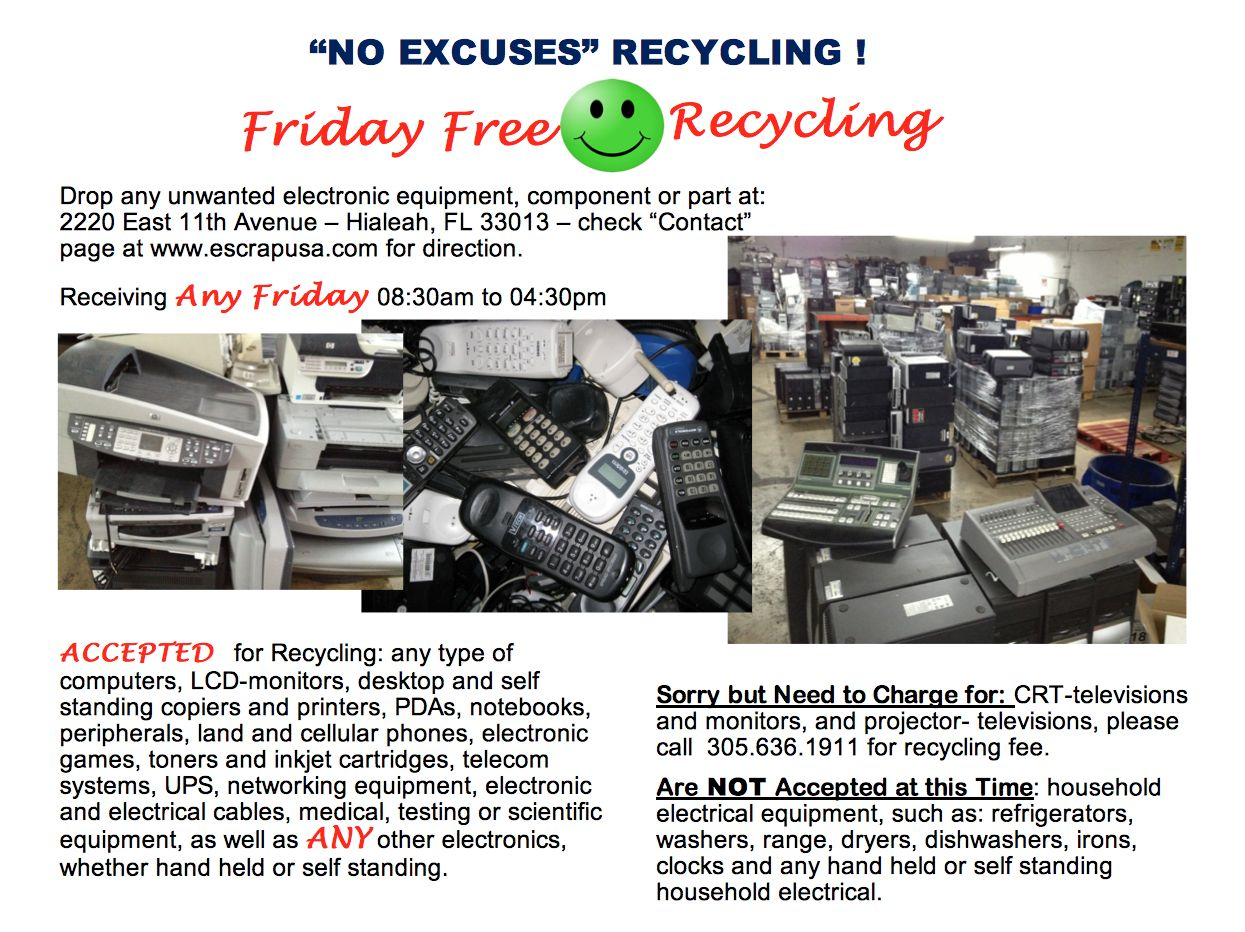 E Scrap Computers Electronics Lamp Recyclers Recycling Machinery Circuit Board Computer Friday Free